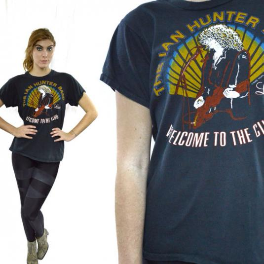 Vintage 80s IAN HUNTER BAND Mick Ronson T Shirt