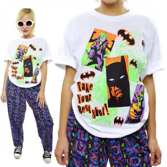 Vintage 80s Batman Joker Take Your Best Shot T Shirt