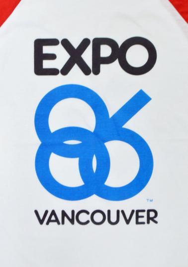 Vintage 80s Expo 86 Vancouver Raglan Jersey Sz L