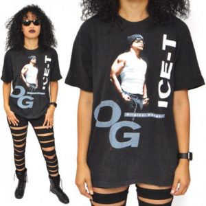 Vintage 90s Ice-T OG Original Gangster Old School Rap Shirt