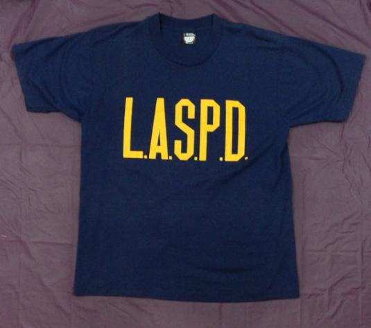 Vintage 90S L.A.S.P.D. LA School Police Department T Shirt