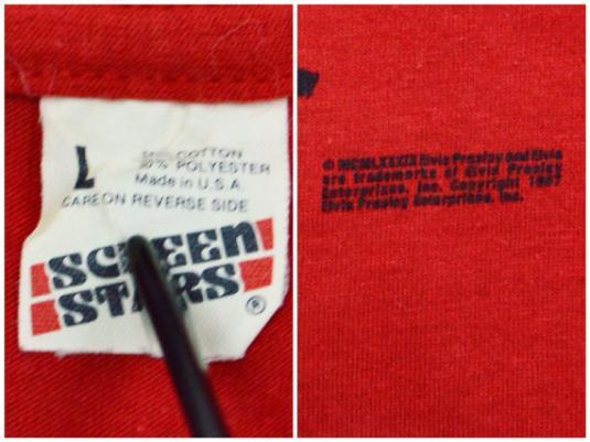 Vintage 80s Elvis Presley The King 50/50 T Shirt Sz L