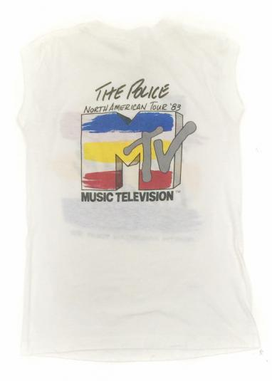 Vintage 80s The Police North American Tour Tank T Shirt Sz S