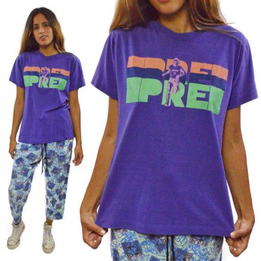 Vintage 80s Nike Rare 7th Prefontaine Memorial 10k T Shirt