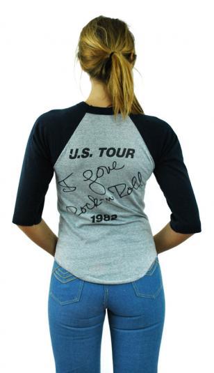Vintage 80s JOAN JETT Rock & Roll Raglan Jersey T Shirt