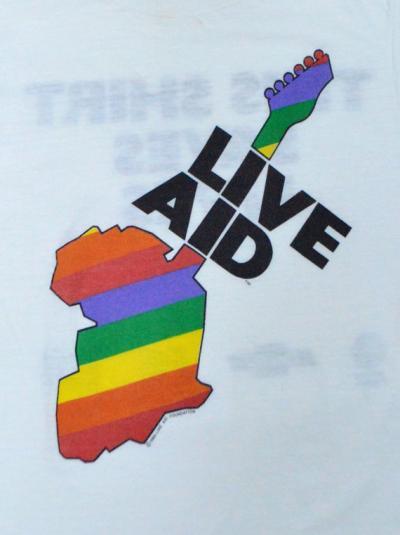 Vintage 80s Live Aid Concert 50/50 T Shirt Sz S