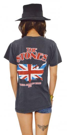 Vintage 80s The Rolling Stones Tour T Shirt