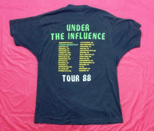 Vintage 80s OVERKILL Under The Influence Tour T Shirt