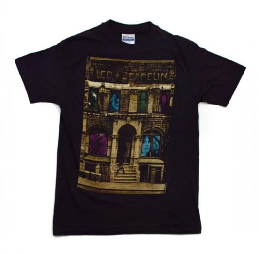 Vintage 80s Led Zeppelin Physical Graffiti T Shirt Sz M