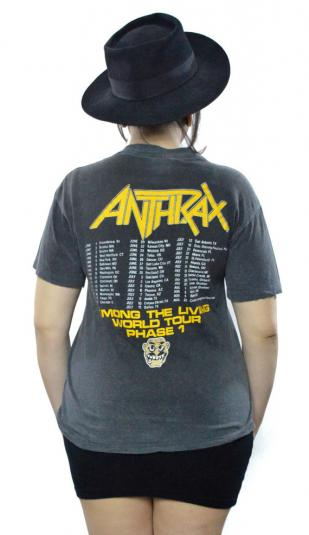 Vintage 80s Anthrax Among The Living World Tour T Shirt