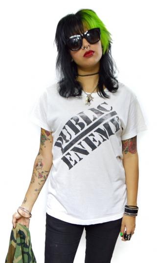 Vintage 80s Public Enemy Bullseye Target T Shirt