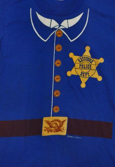 Vintage 80s Keystone Cops Police Dept. 50/50 T Shirt Sz S