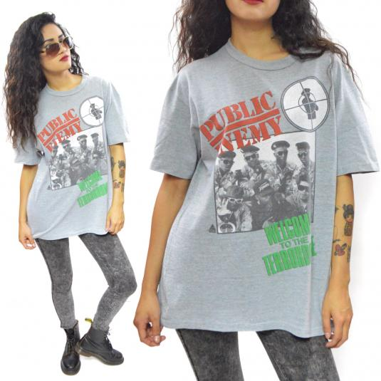 Vintage 90s Public Enemy Welcome to the Terrordome T Shirt L