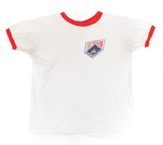 Vintage 80s Boy Scouts Fire Mountain B.S.A. Ringer T Shirt