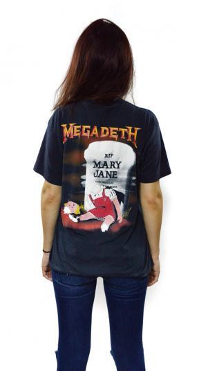 Vintage 80s MEGADETH Mary Jane Vic Rattlehead Thrash T Shirt