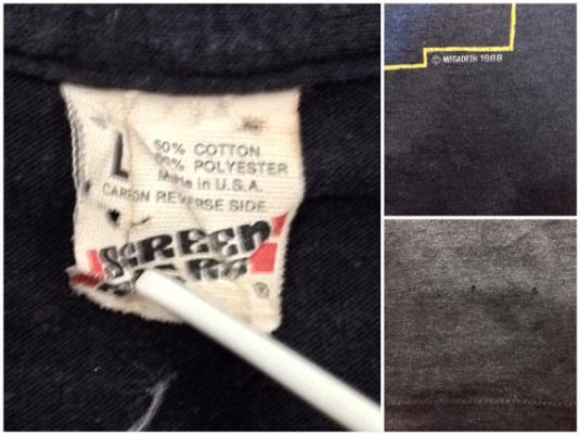 Vintage 80s MEGADETH Mary Jane T Shirt