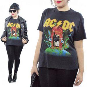 Vintage 80s AC/DC World Tour 88 Rock Concert T Shirt