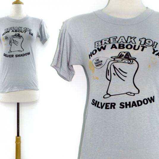Vintage 80s Break 19 Silver Shadow Distressed T Shirt Sz S