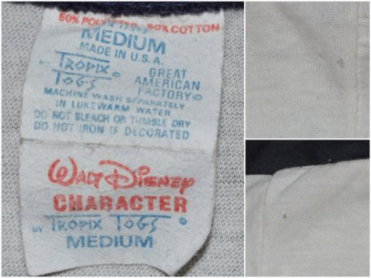 Vintage 80s MICKEY MOUSE Ringer T Shirt