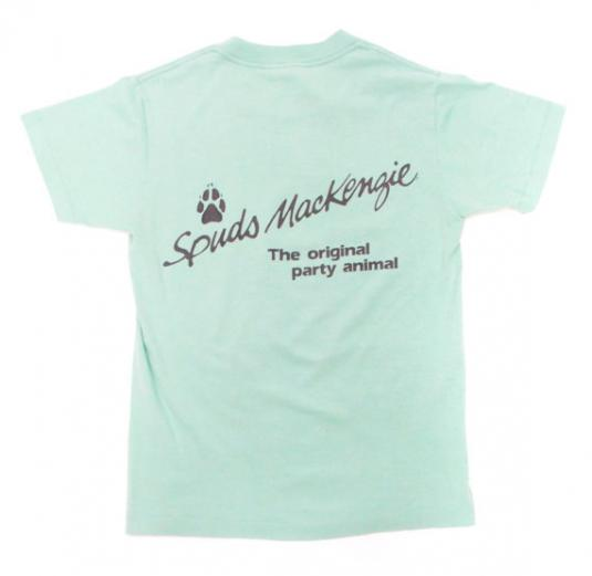 Vintage 80s Spuds Mackenzie Bud Light Surf's Up T Shirt Sz S