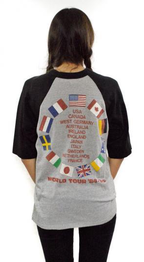 Vintage 80s Bruce Springsteen World Tour Jersey T Shirt