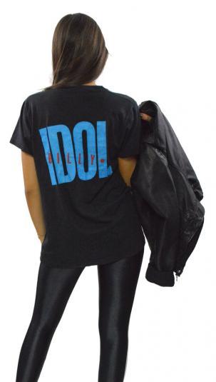 Vintage 80s Billy Idol Male Love Black T Shirt Sz L