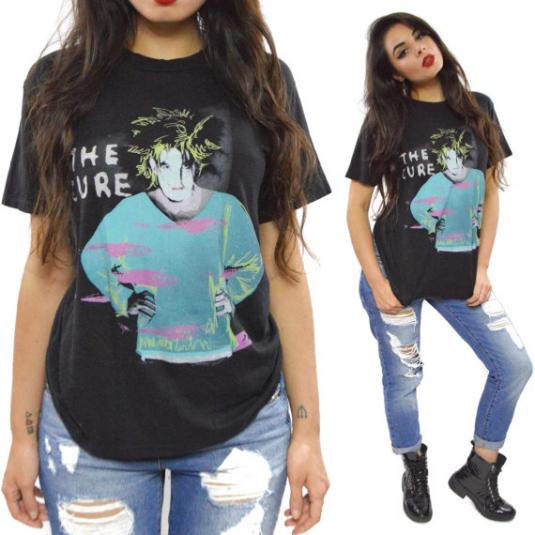 Vintage 80s The Cure Standing On a Beach Goth T Shirt Sz L
