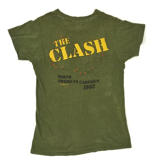 Vintage 80s The Clash North American Campaign 1982 T Shirt