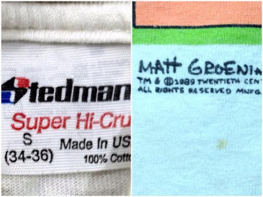 Vintage 80s THE SIMPSONS Family Bonding T Shirt