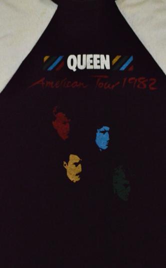 Vintage 80s Queen American Tour 1982 Raglan Jersey