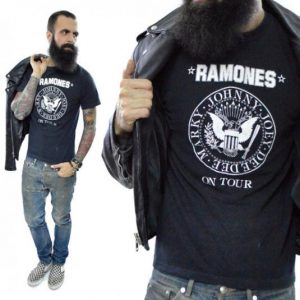 Vintage 80s Ramones On Tour Halfway to Sanity T Shirt