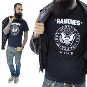 Vintage 80s Ramones On Tour Halfway to Sanity T Shirt
