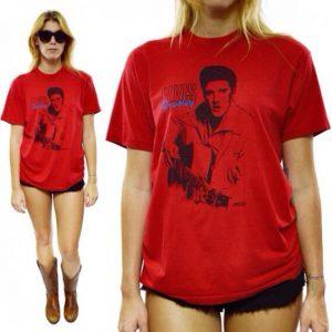 Vintage 80s Elvis Presley The King T Shirt Sz L