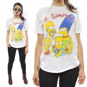 Vintage 80s The Simpsons Family Matt Groening T Shirt Sz M