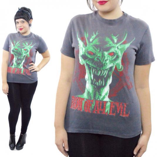 Vintage 80s Slayer Root of All Evil World Sacrifice T Shirt