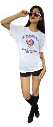 Vintage 80s Seoul 1988 Summer Olympics T Shirt