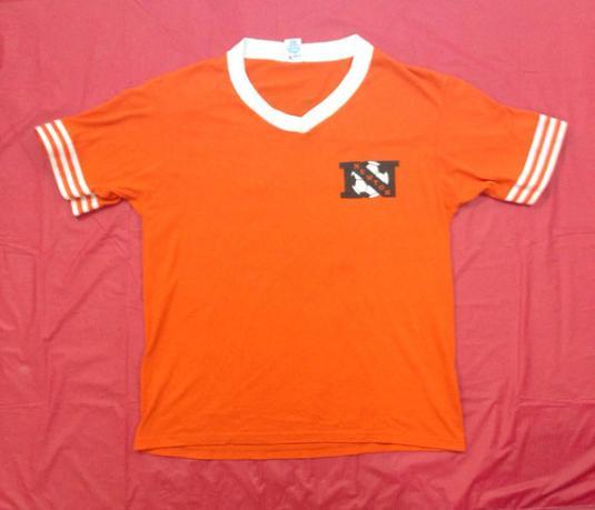 Vintage 80s Newton Soccer Indie Rock Jersey Ringer T Shirt