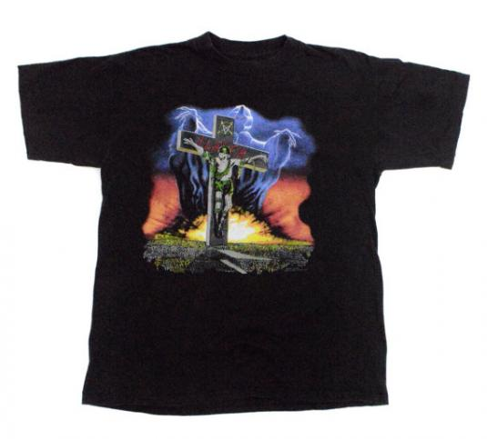 Vintage 90s Slayer Touring in the Abyss Metal T Shirt Sz L