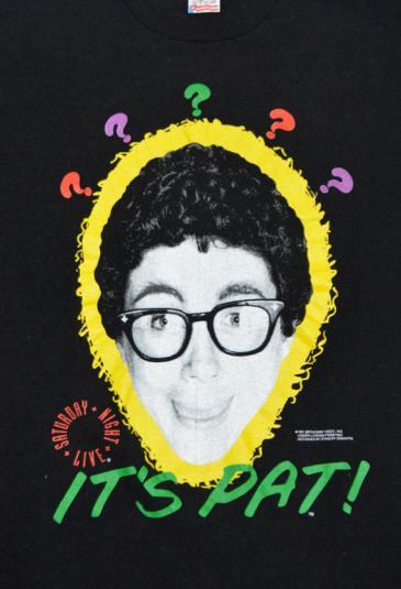 Vintage 90s It's Pat! Saturday Night Live Funny T Shirt Sz L