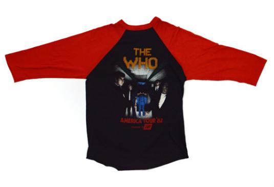Vintage 80s The Who North American Tour '82 Jersey