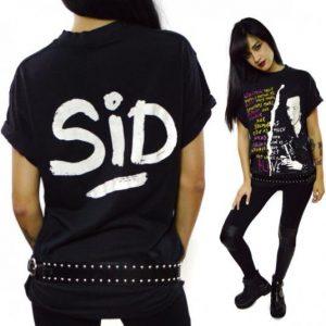 Vintage 80s Sid Vicious Punk 50/50 T Shirt Sz L