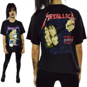Vintage 80's Metallica Damaged Tour Pushead T Shirt Sz L