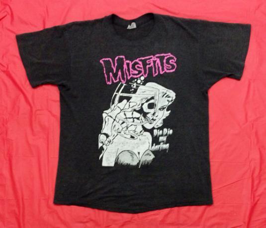 Vintage 80s MISFITS Die Die My Darling Punk T Shirt