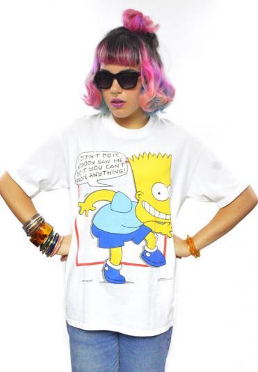 Vintage 90s The Simpsons Bart Simpson T Shirt Sz L