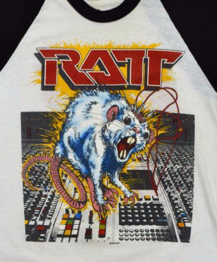Vintage 80s Ratt 'N' Roll Tour 1984 Raglan 3/4 Sleeve Jersey