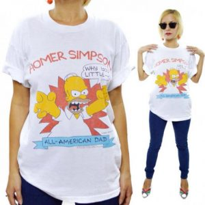 Vintage 80s The Simpsons Homer Simpson T Shirt