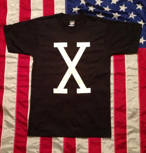Vintage 90s Malcolm X Deadstock NWT Unwashed Screen Stars Bl