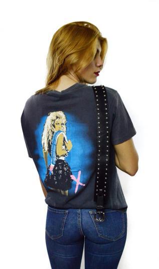 Vintage 80s Lita Ford Kiss Me Deadly T Shirt Sz L