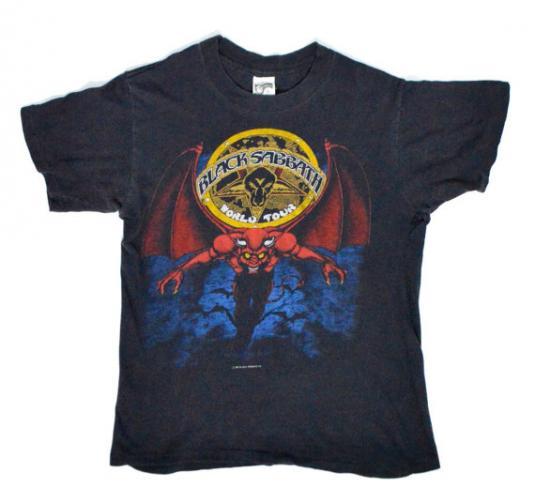 Vintage 80s Black Sabbath World Tour Mob Rules T Shirt
