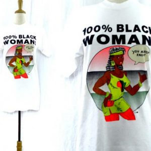 Vintage 90s 100% Black Woman T Shirt Sz M